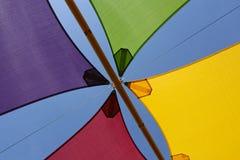 五颜六色的树荫风帆 图库摄影