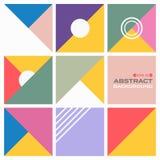 五颜六色的样式几何背景抽象背景  图库摄影