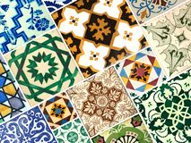 五颜六色的样式瓦片的汇集 免版税库存图片