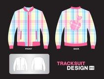 五颜六色的格子花呢披肩田径服设计夹克传染媒介例证体育T恤杉一致的设计穿衣 免版税库存照片