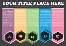 五颜六色的格式设计 库存图片