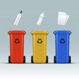 五颜六色的框回收 向量例证