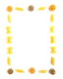 五颜六色的框架意大利面食 库存图片