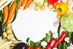 五颜六色的框架蔬菜 免版税库存图片
