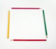 五颜六色的框架铅笔 库存图片