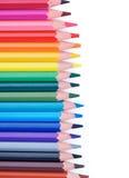 五颜六色的框架铅笔 库存照片