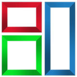 五颜六色的框架 免版税库存照片