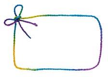 五颜六色的框架绳索 免版税图库摄影