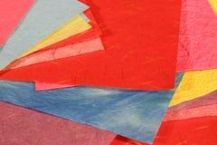 五颜六色的桑树纸张 库存照片