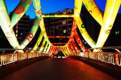 五颜六色的桥梁 库存图片