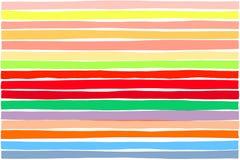 五颜六色的梯度平行水平线样式,布局摘要充满活力或创造性的设计 短剖面 免版税库存照片
