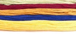 五颜六色的棉花工艺线程数 免版税库存图片