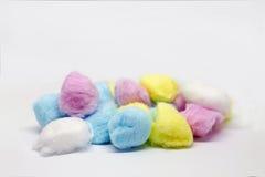 五颜六色的棉花 库存图片