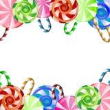 五颜六色的棒棒糖背景 免版税库存图片