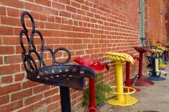 五颜六色的椅子 库存图片