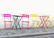 五颜六色的椅子 图库摄影
