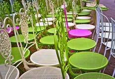五颜六色的椅子 库存照片