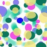 五颜六色的椭圆和弧的无缝的几何样式 免版税库存图片