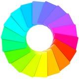 五颜六色的模式螺旋样片 库存例证