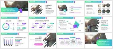 五颜六色的模板介绍 免版税库存图片