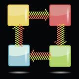 五颜六色的模板 免版税库存照片