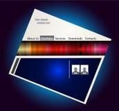 五颜六色的模板webstite 图库摄影