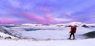 五颜六色的横向冬天 库存照片