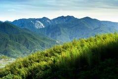 五颜六色的横向山 库存照片