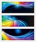 五颜六色的横幅背景 免版税库存照片