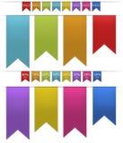 五颜六色的横幅/选项 库存照片