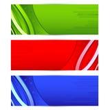 五颜六色的横幅 库存照片