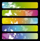 五颜六色的横幅 库存图片