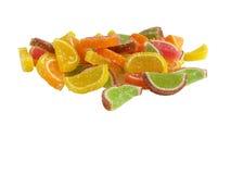 五颜六色的橘子果酱 库存图片