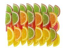 五颜六色的橘子果酱 图库摄影