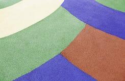 五颜六色的橡胶地板 库存照片