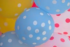 五颜六色的橡胶气球宏观纹理  库存图片