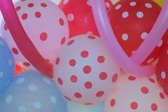 五颜六色的橡胶气球宏观纹理  免版税库存图片