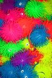 五颜六色的橡胶玩具 图库摄影