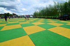 五颜六色的正方形在Siak,印度尼西亚 图库摄影