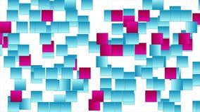 五颜六色的正方形提取高科技录影动画 库存例证