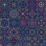 五颜六色的正方形铺磁砖无缝的样式 库存图片