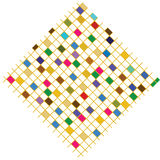 五颜六色的正方形 图库摄影