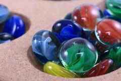 五颜六色的比赛玻璃大理石 库存照片