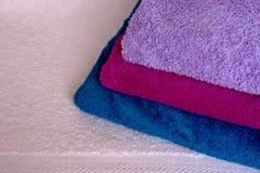 五颜六色的毛巾 免版税图库摄影