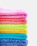 五颜六色的毛巾 免版税库存图片