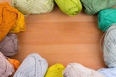 五颜六色的毛线球 库存照片