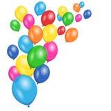 五颜六色的气球党传染媒介背景 库存照片