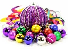 五颜六色的气球和丝带 免版税库存照片