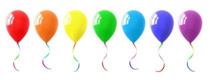 五颜六色的气球收藏 免版税库存照片