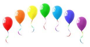 五颜六色的气球收藏 免版税库存图片